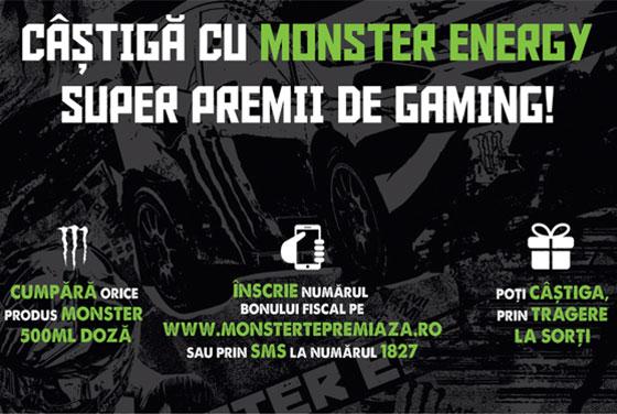 Câștigă cu Monster Energy super premii de gaming!