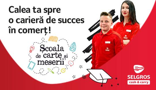 Selgros contribuie la formarea viitorilor profesioniști în retail prin programul de învățământ dual Școala de Carte și Meserii