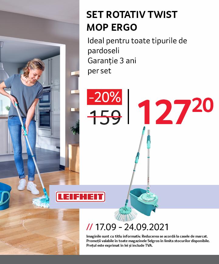 Set rotativ twist mop Ergo