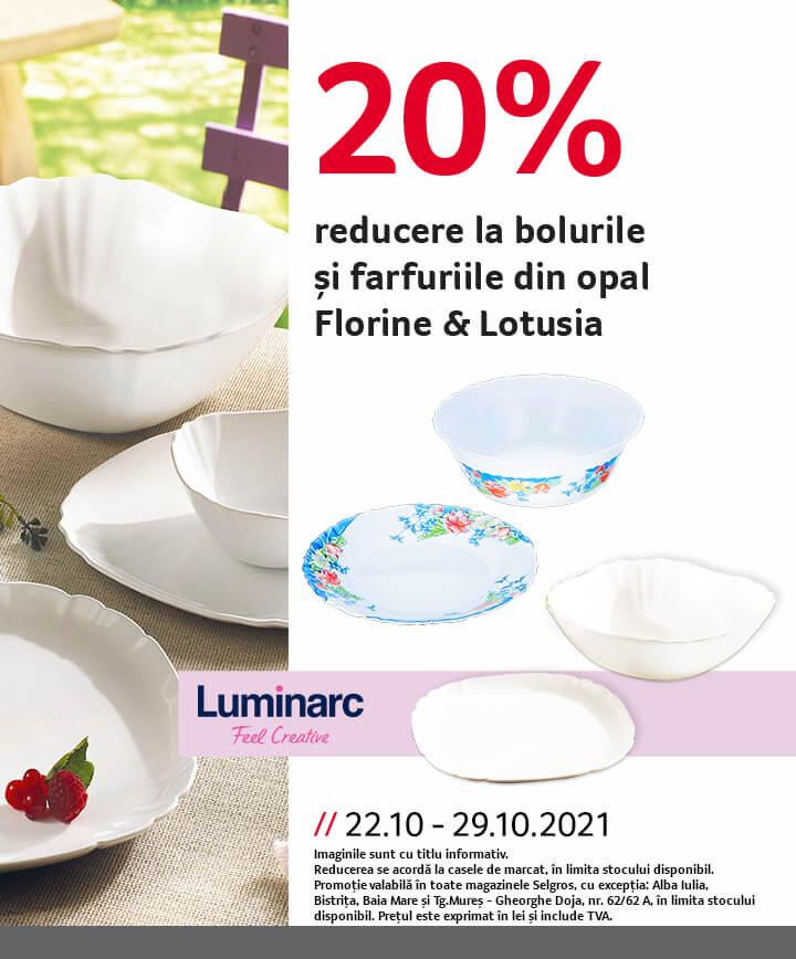 farfurii opal Florine si Lotusia
