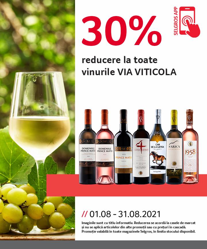 Reducere APP august vinuri Via Viticola